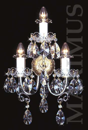 Inexpensive Crystal Wall Sconces : Discount Crystal wall sconce 4031 03/03N-669SW Crystal and Chandeliers